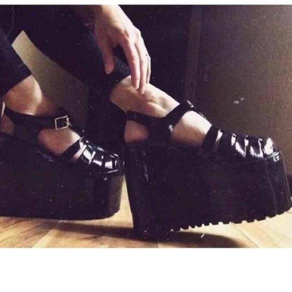 d9c54d7dedcc Unif black jelly platform shoes size 9. M 5a610f835521bed81f02ecc4